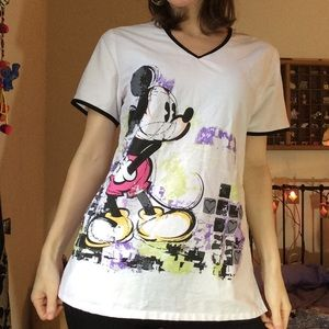 Disney Mickey Mouse Super Soft Scrubs Top Blouse